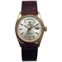 Rolex Yellow Gold Oyster Perpetual Day-Date Automatic Wristwatch with Papers