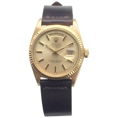 Rolex Yellow Gold Day Date Champagne Dial Automatic Wristwatch