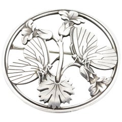 Vintage Georg Jensen Moonlight Blossom Brooch