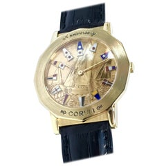 Corum Yellow Gold Admiral's Cup Anniversary Ltd Ed mechanical Wristwatch, 1995
