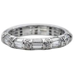 Baguette Diamonds Wedding Ring
