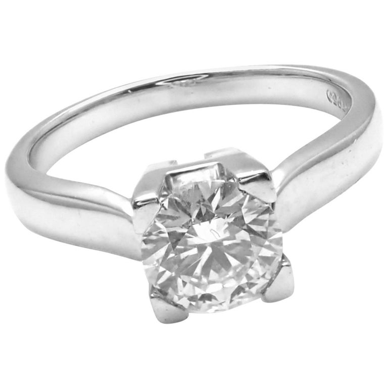 Harry Winston .71 Carat VVS2/F Diamond Solitaire Platinum Engagement Ring
