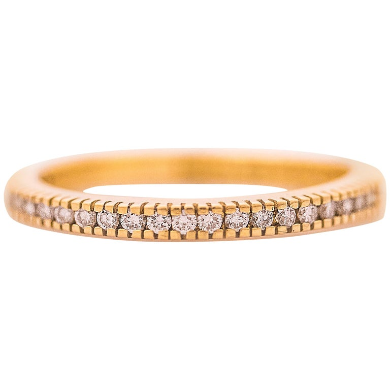 1990s Hidalgo Diamond 18K Gold Eternity Band