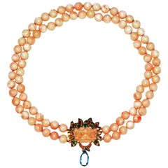 Amazing Coral Dragon Head Necklace