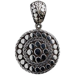 John Hardy Jaisalmer Dot Sterling Silver Circle Pendant
