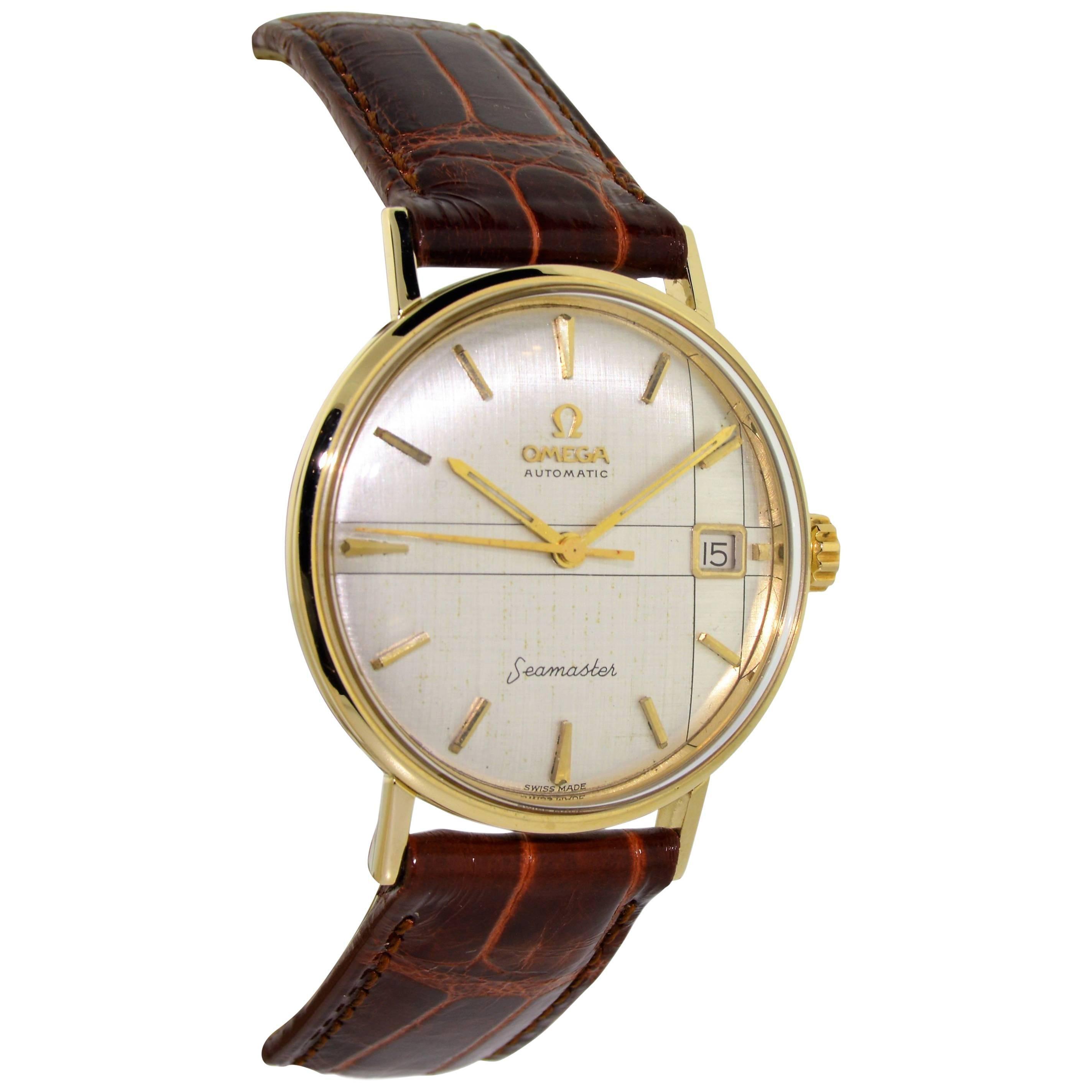 Omega 14 Karat Solid Yellow Gold with Unique Original Quadrant Dial Watch