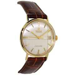 Omega 14 Karat Solid Yellow Gold with Unique Original Quadrant Dial Watch