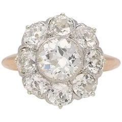 Antique Diamond Coronet Cluster Ring, circa 1905