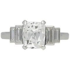Art Deco Solitaire Diamond Ring, circa 1930