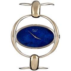 Chopard Ladies White Gold Lapis Lazuli Wristwatch