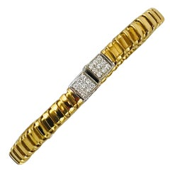 Carlo Weingrill Gold Diamonds Cuff Bracelet