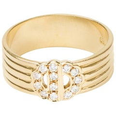 Dior Double Ring Paved Diamonds