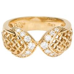 Dior Ring 750 Gold Paved Diamond