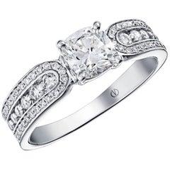 Versicolor White Gold Diamond Ring