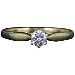 Antique Victorian Diamond Solitaire Engagement Ring, circa 1900
