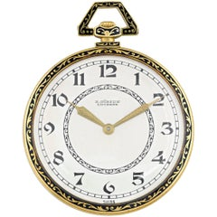 Audemars Piguet Retailed by Gübelin Yellow Gold Pocket Watch, circa 1920