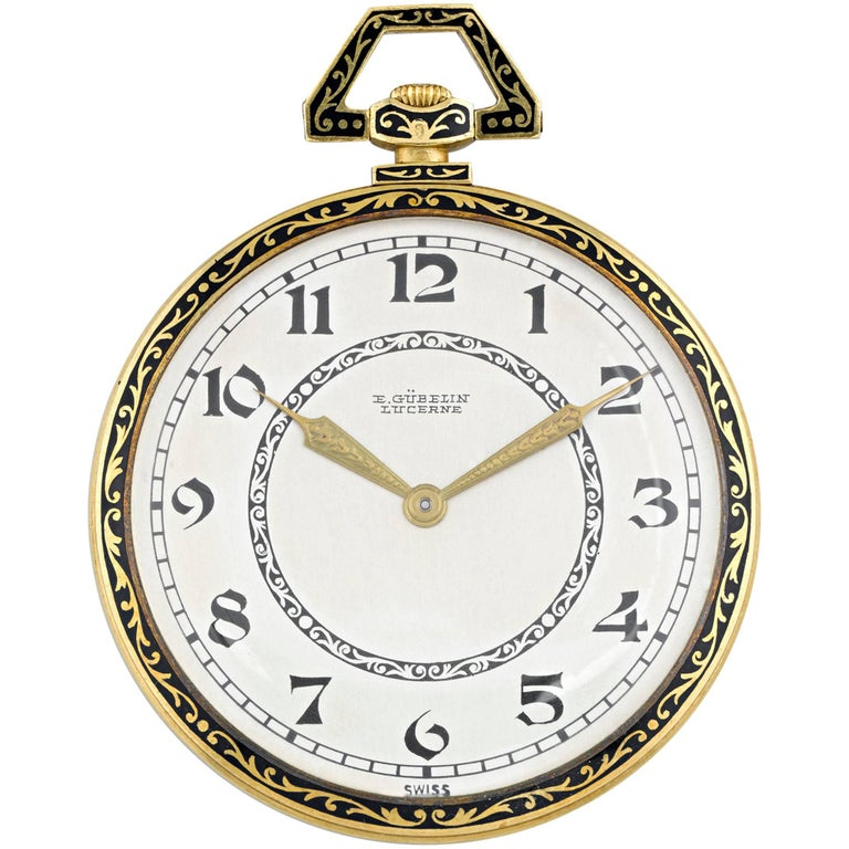 Audemars Piguet Retailed by Gübelin Yellow Gold Pocket Watch, circa 1920