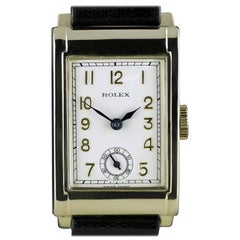 Rolex Yellow Gold Art Deco Railway Wristwatch, 1934