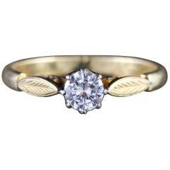 Antique Victorian 18 Carat Gold Diamond Solitaire Ring