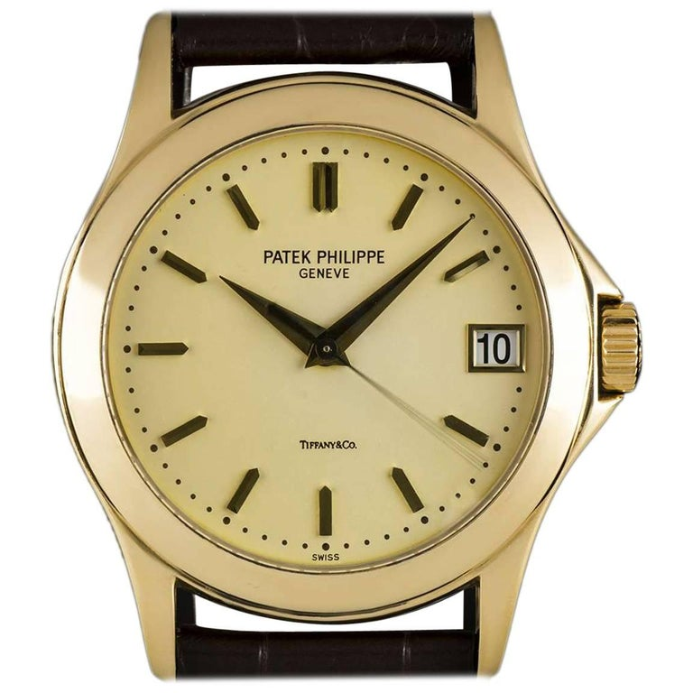 Patek Philippe Tiffany & Co Calatrava Opaline Dial Automatic Wristwatch