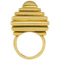 Aldo Cipullo for Cartier Gold Modernist Ring