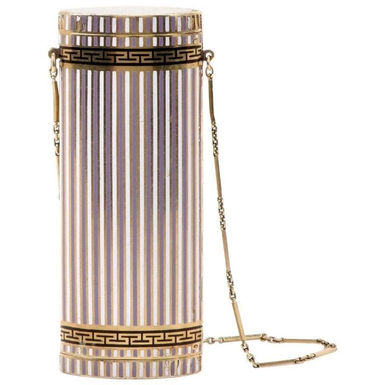 1930s Gold Enamel Compact Box