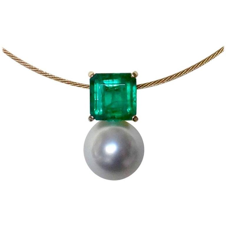 Michael Kneebone Emerald Paspaley South Seas Pearl Pendant