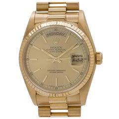 Rolex Yellow Gold Day Date President automatic Wristwatch, circa 1982
