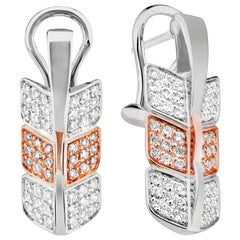 Éros Diamond White and Rose Gold Earrings