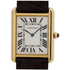 Cartier Yellow Gold Tank Solo quartz Wristwatch, circa 2010