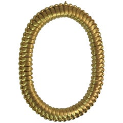 Henry Dunay 18 Karat Yellow Gold Sabi and Polished Gold Necklace