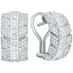 Éros Diamond White Gold Earrings