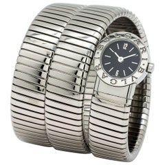 Bulgari Stainless Steel Serpenti Snake Bracelet quartz Wristwatch