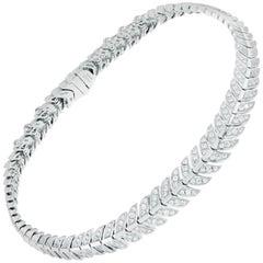 Lalique Éros Diamond White Gold Bracelet