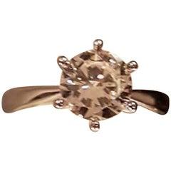 1.56 Carat Solitaire Platinum Diamond Ring