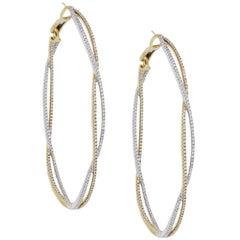 Diamond Infinity Hoop Earrings