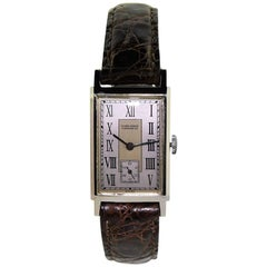 Nardin Stainless Steel Art Deco Tank Style Manual Watch, circa 1930s