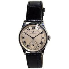 Nardin Stainless Steel Art Deco High Grade Manual Watch, 1930s