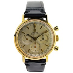 Omega Yellow Gold Filled Chronograph Manual Wristwatch, circa 1960s