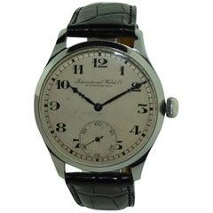 IWC Schaffhausen Stainless Steel High Grade Oversized Wristwatch, 1920s