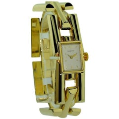 Blancpain Ladies Solid Yellow Gold Art Deco Bracelet Manual Watch, 1950s