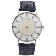 Vacheron Le Coutre Diamond Mystery 14 Karat White Gold Ladies, 1950s