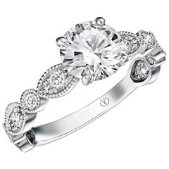 Isaure White Gold Diamond Solitaire