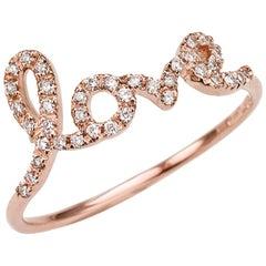 Assya London White Diamonds Rose Gold Bespoke Letter Ring