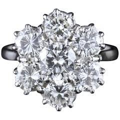 Diamond Cluster Engagement Ring 4 Carat of Diamonds Vs1