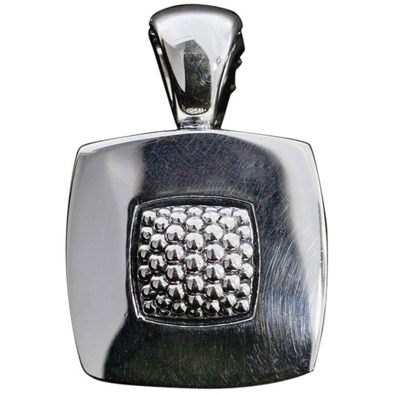 Lagos Imagine Caviar Small Square Sterling Silver Pendant