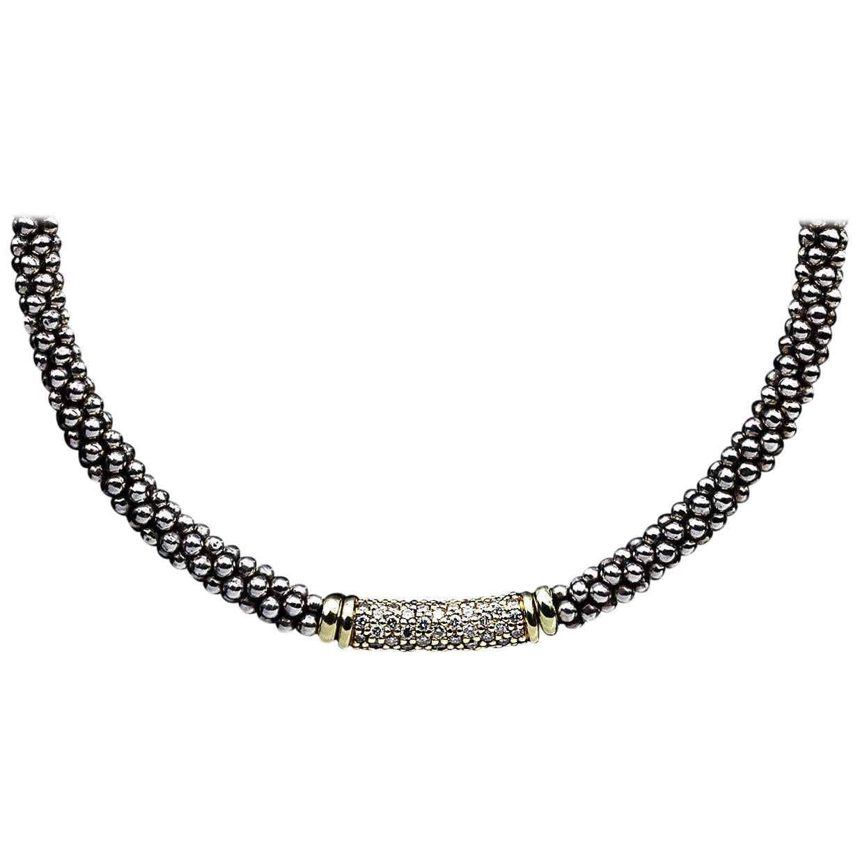 Lagos 18K Gold Caviar Rope Necklace, 18L