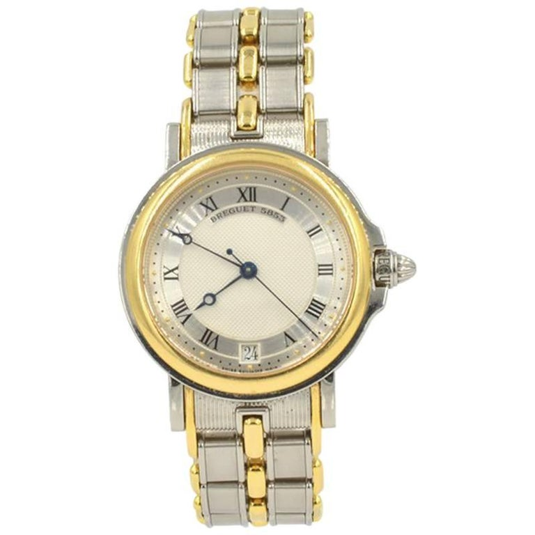 Breguet Yellow Gold Stainless Steel Marine Automatic Wristwatch, circa 1990s