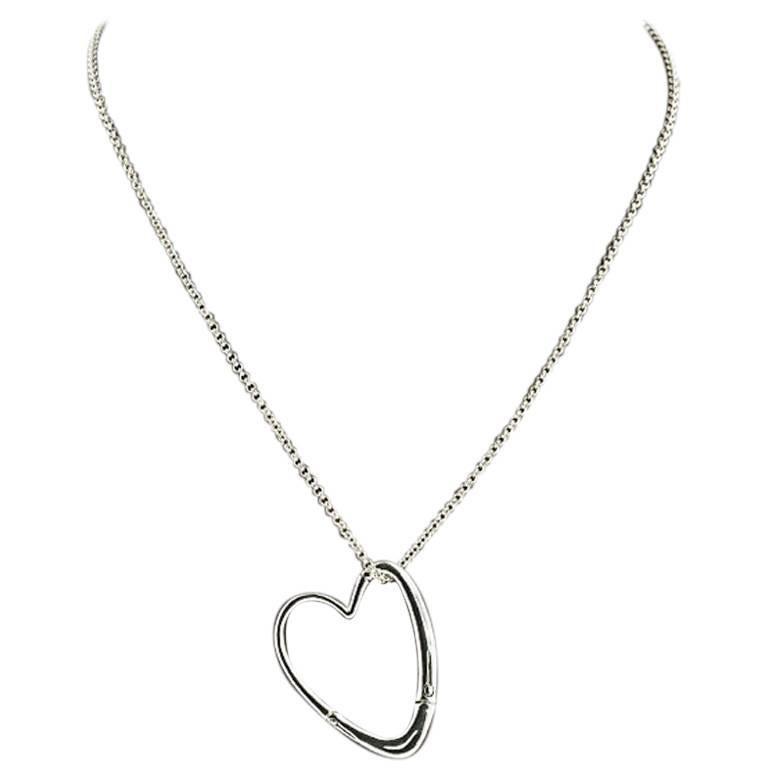 John Hardy Bamboo Sterling Silver Open Heart Pendant