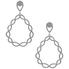 Diamond Infinity Tear Drop Earrings